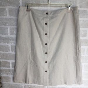 NWT Christopher Banks linen women's size 14 skirt